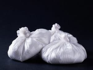 bags of white powder